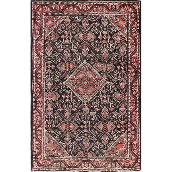 """Mahal Sarouk Vintage Hand Knotted Wool Oriental Persian Area Rug - 6'7"""" x 4'3"""""""