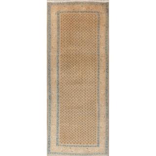 """Botemir Persian Vintage Hand-Knotted Wool Oriental Runner Rug - 10'5"""" x 3'7"""" Runner"""