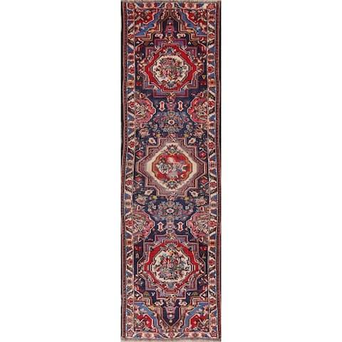 """Vegetable Dye Vintage Bidjar Persian Hand Knotted Oriental Runner Rug - 12'5"""" x 3'8"""" Runner"""