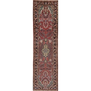 """One-of-a-kind Hamedan Persian Hand Knotted Oriental Runner Rug - 8'10"""" x 2'9"""" Runner"""