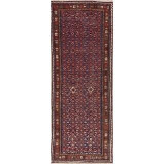 """Vintage Hamedan Hand Knotted Wool Persian Oriental Runner Rug - 9'9"""" x 3'6"""" Runner"""