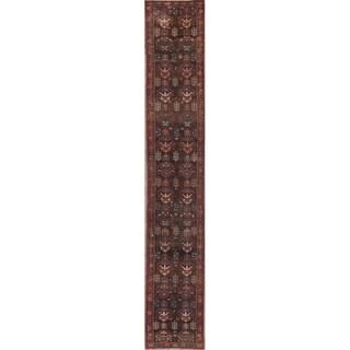 """Antique Vegetable Dye Bakhshayesh Heriz Handmade Persian Runner Rug - 11'5"""" x 1'10"""" Runner"""