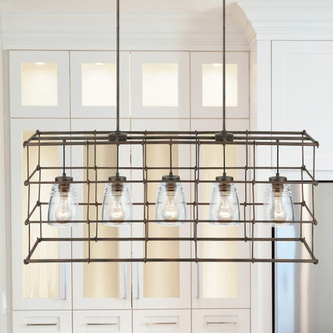 Turner 5-light Nordic Grey Island Fixture
