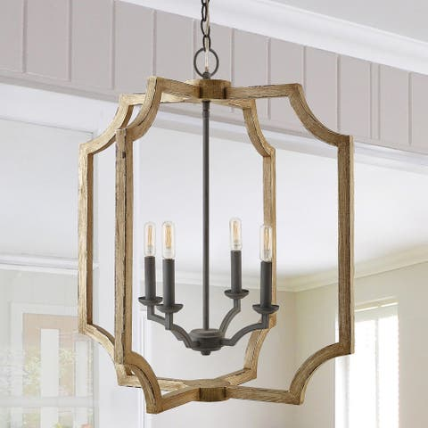 4-light Sea Salt Foyer Fixture