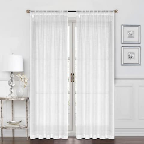 Porch & Den Carole Tailored 2-way Rod Pocket Curtain Panel