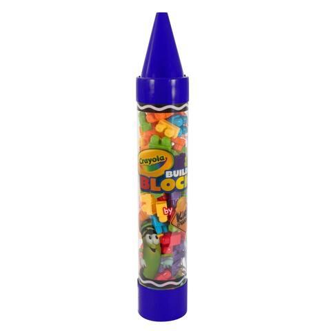 "Crayola Kids @ Work 80 Piece Block Set in a 36"" Giant Crayon - Blue"