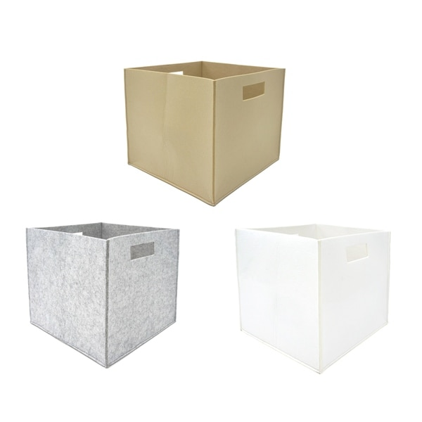 2 Piece Felt Fabric Storage Cube By Handcrafted 4 Home 12 X