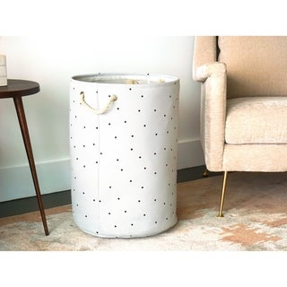 """Handmade Canvas Laundry Hamper by Handcrafted 4 Home - 16"""" x 16"""" x 22"""""""