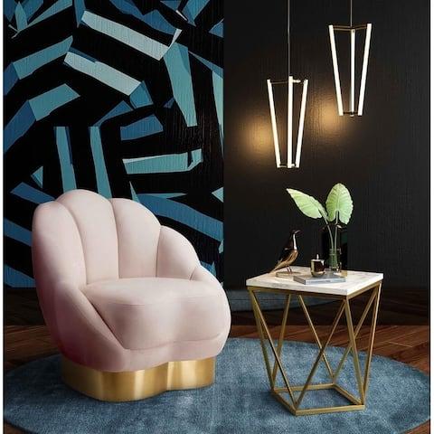 Bloom Blush Velvet Chair