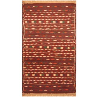 Handmade Wool Kilim (Afghanistan) - 3'9 x 6'