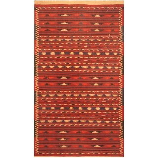 Handmade Wool Kilim (Afghanistan) - 3'8 x 6'5