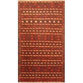 Handmade One-of-a-Kind Wool Kilim (Afghanistan) - 3'9 x 6'4
