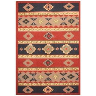 Handmade One-of-a-Kind Wool Kilim (India) - 4'2 x 6'2