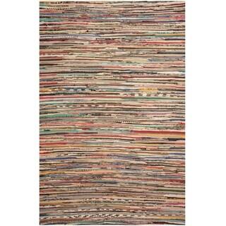Handmade One-of-a-Kind Wool Kilim (India) - 4'3 x 6'4