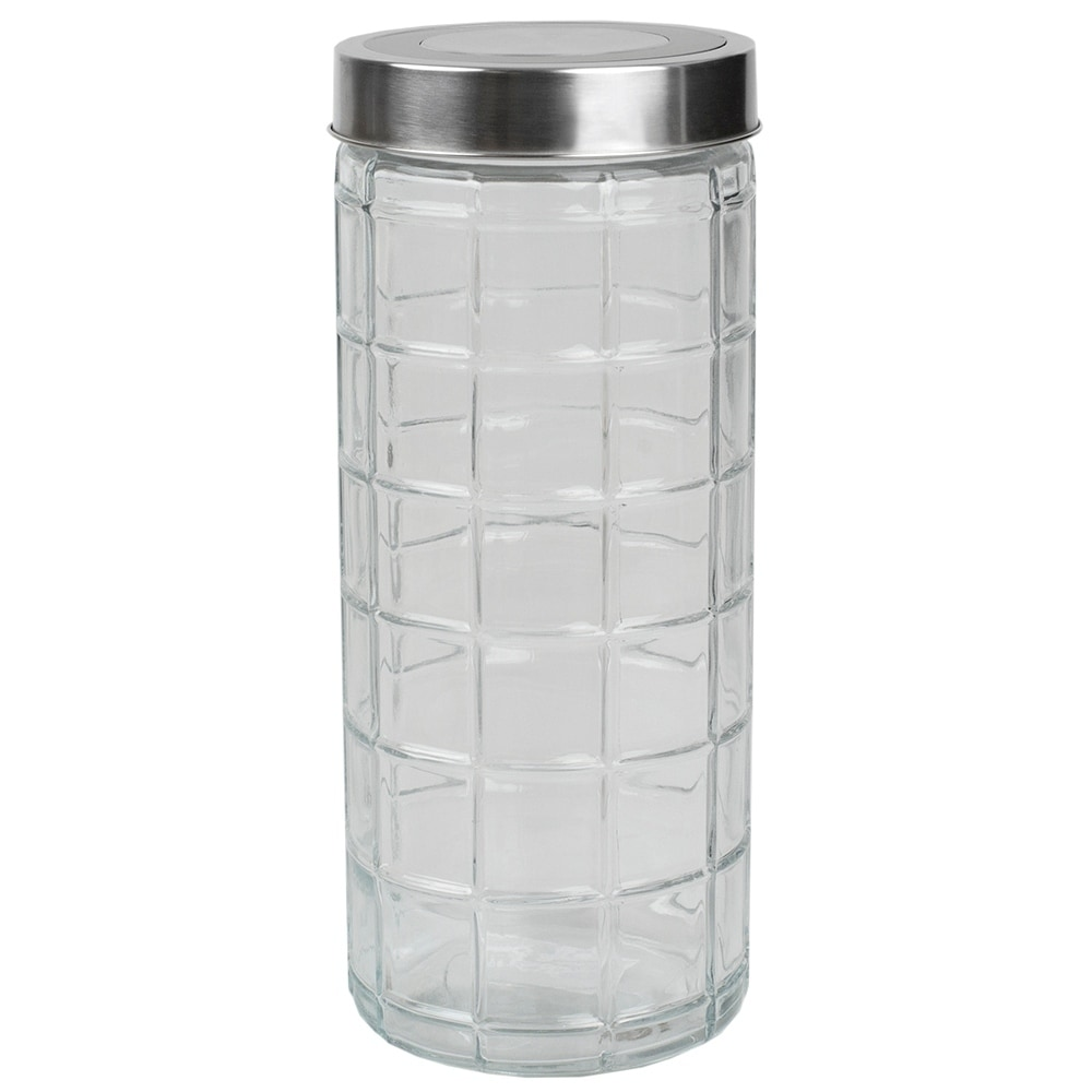 Chex Collection 66 oz. X-Large Glass Canister with Stainless Steel Lid