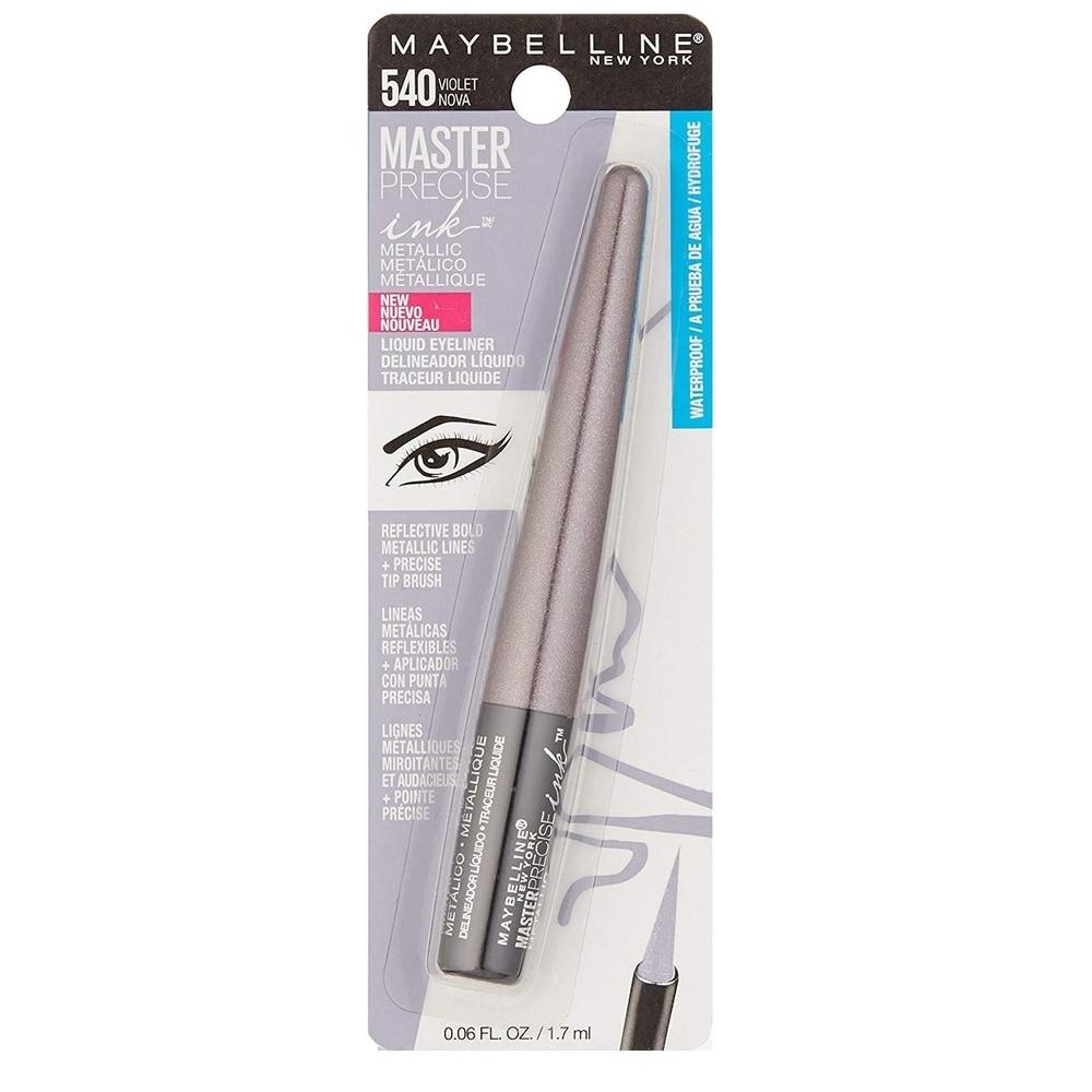 Maybelline Master Precise Ink Metallic Liquid Eyeliner #540 Violet Nova (1 Pack)