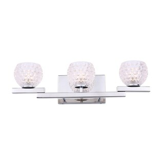 Woodbridge Lighting 18553CHR Jewel 3-light Bath (Clear Crystal Ball - Seeded)