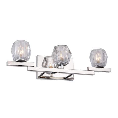Woodbridge Lighting 18553CHR Jewel 3-light Bath