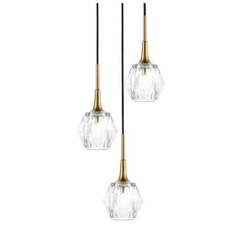 Woodbridge Lighting 21124CBR Regent Park 3-light Cluster Pendant