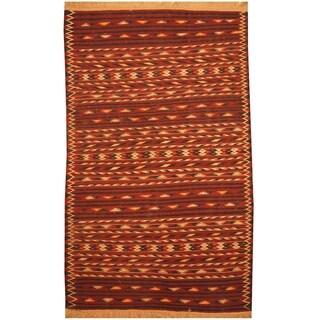 Handmade One-of-a-Kind Wool Kilim (Afghanistan) - 4' x 6'2