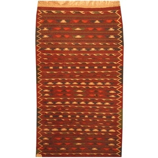 Handmade Wool Kilim (Afghanistan) - 3'8 x 6'3