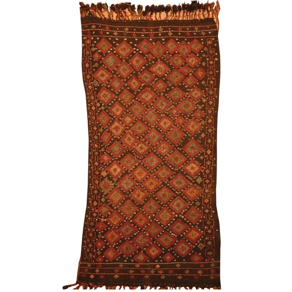 Handmade Wool Kilim (India) - 3' x 5'7