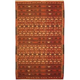 Handmade One-of-a-Kind Wool Kilim (Afghanistan) - 4' x 6'4