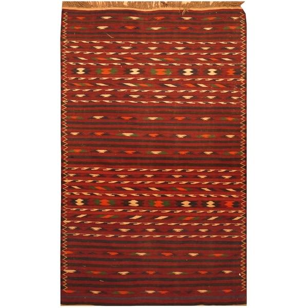 Handmade Wool Kilim (Afghanistan) - 3'8 x 6'