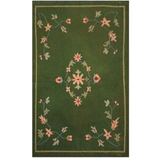 Handmade One-of-a-Kind Wool Kilim (India) - 3'1 x 5'