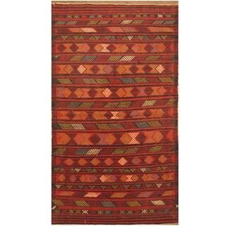 Handmade One-of-a-Kind Wool Kilim (Afghanistan) - 3'3 x 5'8