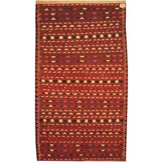 Handmade Wool Kilim (Afghanistan) - 3'10 x 6'9