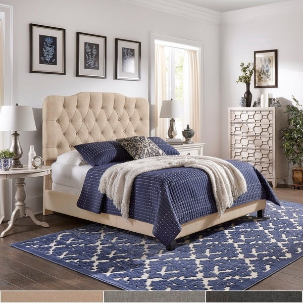 Copper Grove Gandersheim Adjustable Diamond-tufted Camel-back Bed