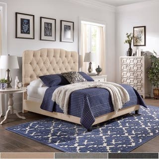 Ginny Adjustable Diamond-tufted Camel Back Bed by iNSPIRE Q Classic