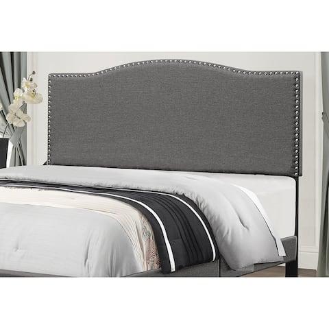 Copper Grove Durkheim Stone Fabric Headboard with Bed Frame