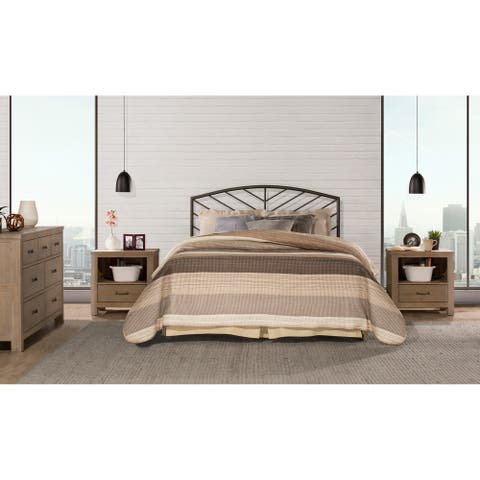 Essex Grey Pewter Headboard with Bed Frame