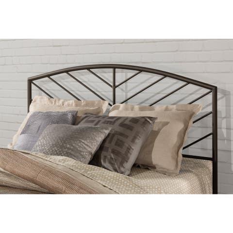 Porch & Den Elemar Grey Metal Headboard without Bed Frame