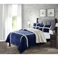 Micromink Sherpa 3PC Comforter Set - Ultra-Soft, Fray-Resistant