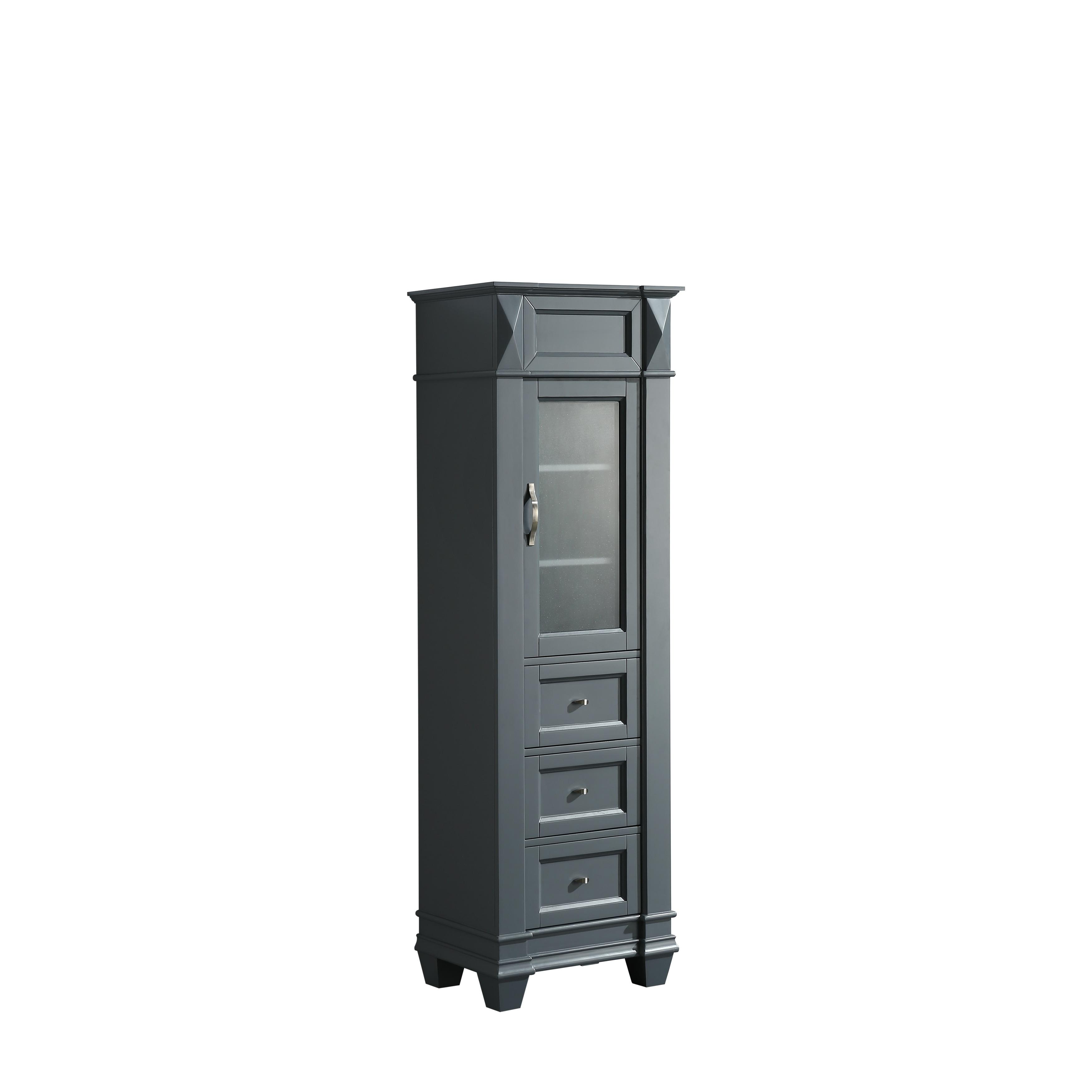 Hudson 20 Linen Cabinet In Gray