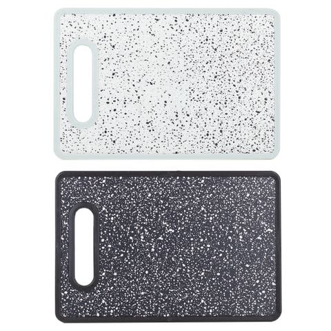 Speckled Non-Porous Dual Sided Bacteria Resistant Plastic Cutting Board