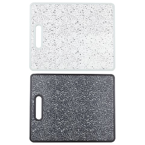 Speckled Non-Porous Dual Sided Bacteria Resistant Plastic Cutting Board, Black