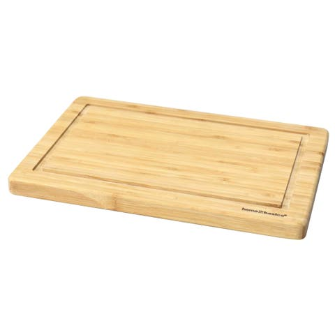12 x 15 Bamboo Cutting Board with Juice Groove, Natural
