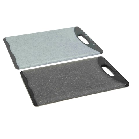"Double Sided 8"" x 11.5"" Granite Plastic Cutting Board"