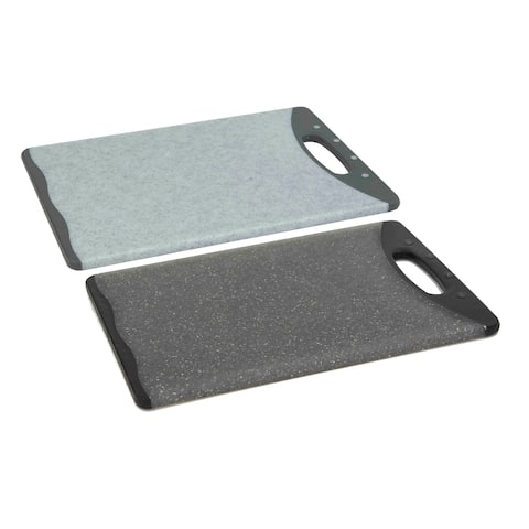 "Double Sided 12"" x 18"" Granite Plastic Cutting Board"