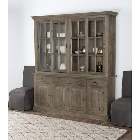 Rockie Reclaimed Pine 4 Drawer Hutch Cabinet by Kosas Home