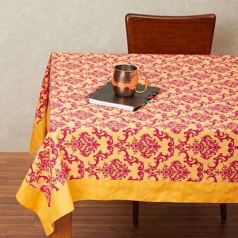 In-Sattva Home 100% Cotton Autumn Print Washable Rectangular Table Cover Cloth