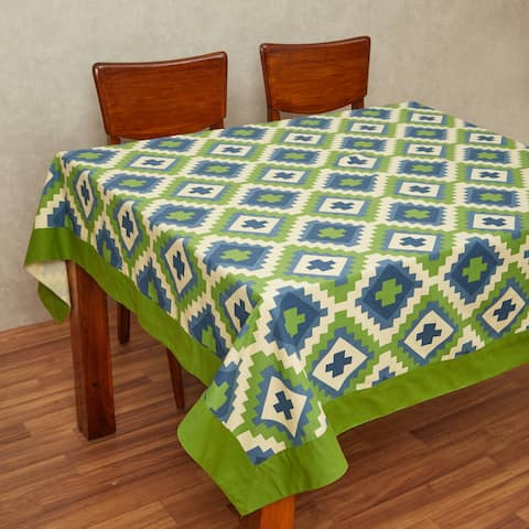 In-Sattva Home 100% Cotton Bohemian Print and Pattern Washable Rectangular Table Cover Cloth