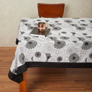 In-Sattva Home 100% Cotton Geometric Print Washable Table Cloth (Rectangle - 90 Inches)