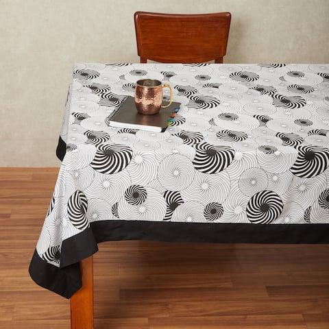 In-Sattva Home 100% Cotton Geometric Print Washable Table Cloth