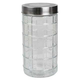 Chex Collection 52 oz. Large  Glass Canister with Stainless Steel Lid