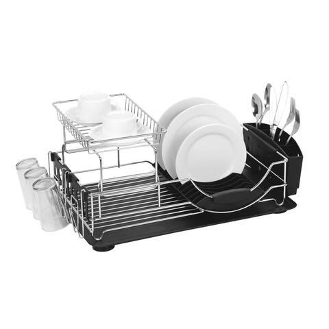 2-Tier Deluxe Dish Drainer